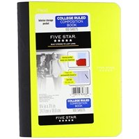 Five Star Composition Book with Pocket - Student Supplies