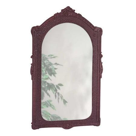 Vintage Vanity Mirror Bathroom Wall Mount Cherry Urethane