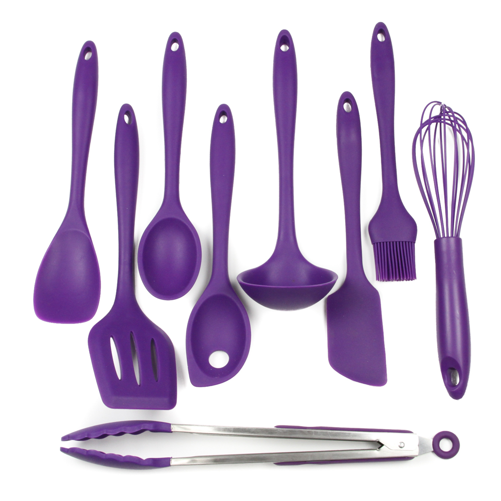 Chef Craft Silicone Set (9 Pieces), Purple