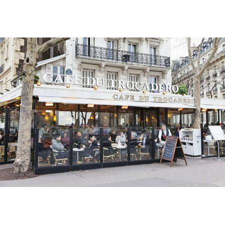 Cafe Du Trocadero, Trocadero, Paris, Ile De France, France, Europe Print Wall Art By Markus Lange