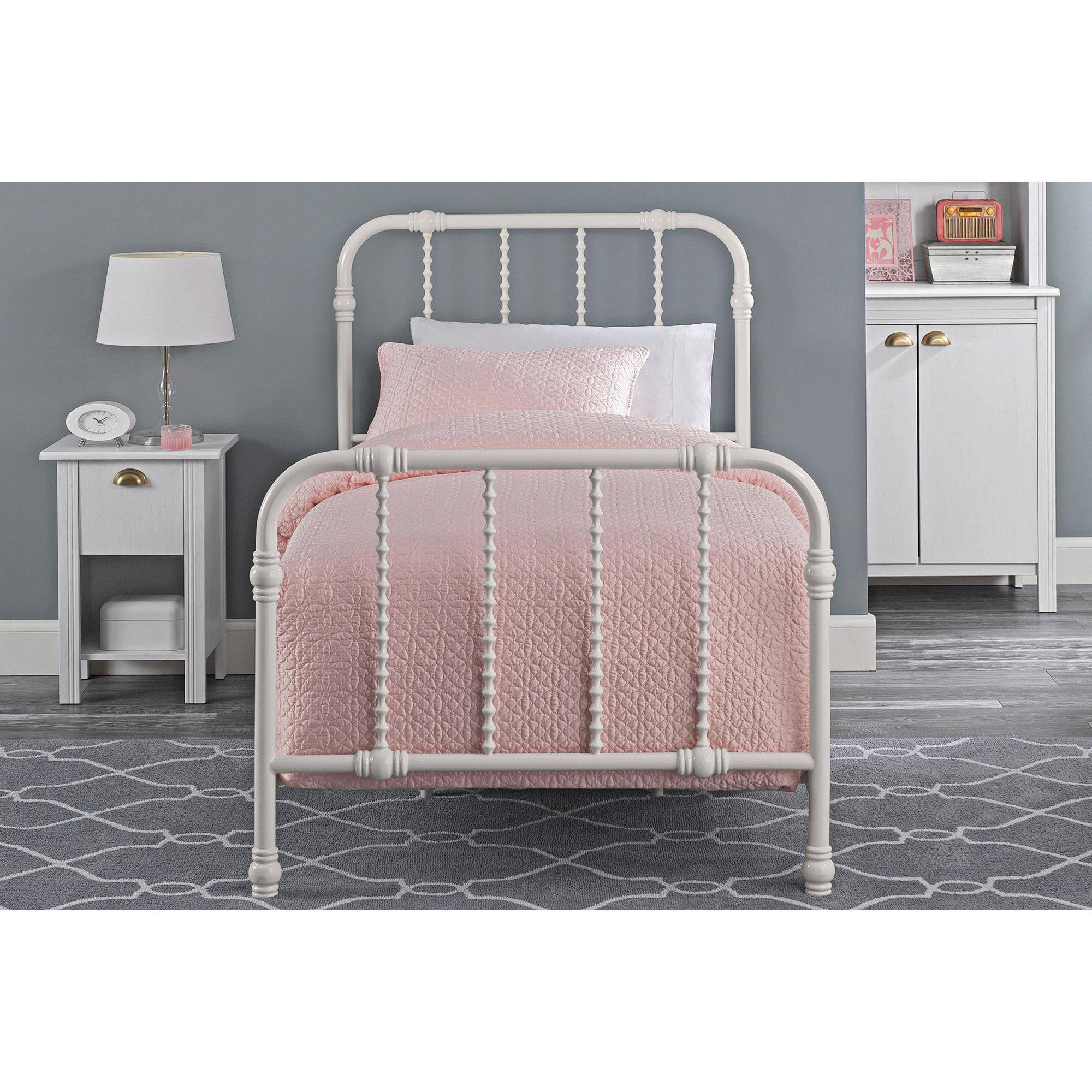Dhp jenny lind metal bed white multiple sizes and colors