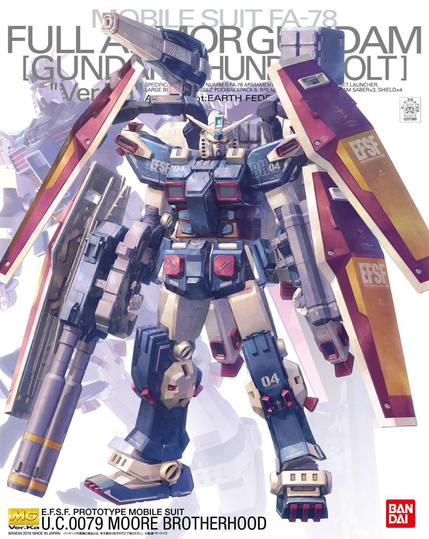 Bandai Hobby MG Full Armor Gundam Thunderbolt Ver. KA MG 1 100 Model Kit by Bandai Hobby