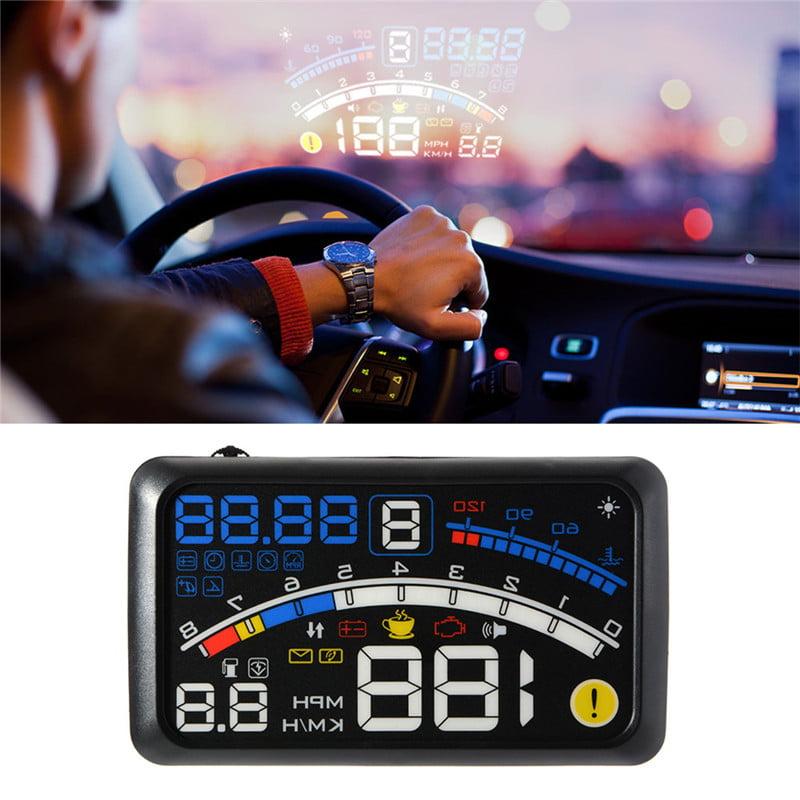 Universal Car Speeding Limit Warning Display Car HUD Support Mileage Measurement,Water Temperature,Voltage Heads Up Display
