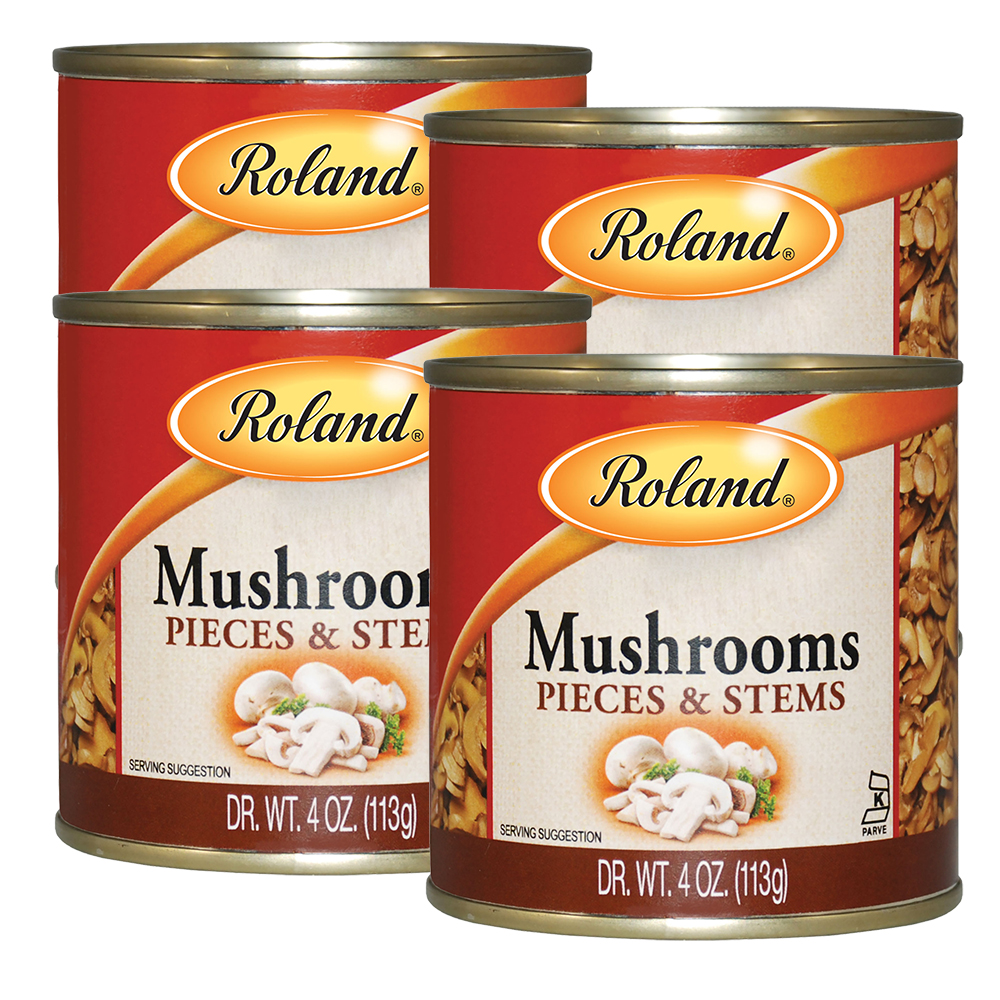 Roland Mushrooms, Pieces And Stems, 4 Oz (4 Packs)