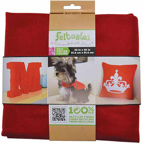 Feltables Craft Pack Felt Solid Piece 36 Inch X 36 Inch-Red