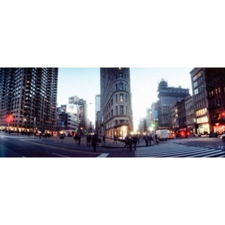 Buildings in a city Flatiron Building 23rd Street Fifth Avenue Manhattan New York City New York State USA Canvas Art - Panoramic Images (15 x (Stores On 5th Avenue Manhattan)