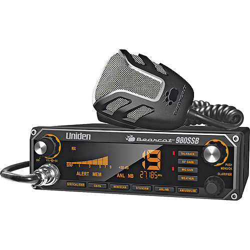 Uniden BEARCAT980SSB 40-Channel CB Radio with SSB USB/LSB and Noise Canceling Microphone