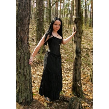 LAMINATED POSTER Model Woman Young Stock Female Lady Girl Gothic Poster Print 24 x 36 (Gothic Females)
