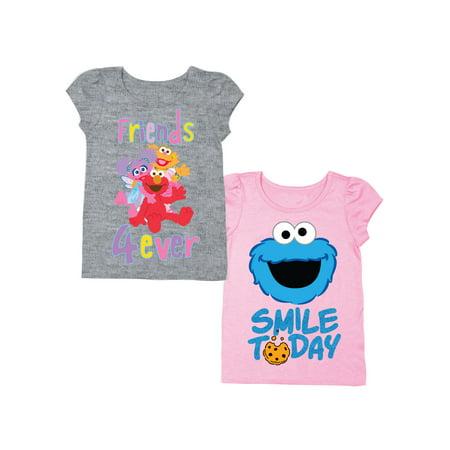 Elmo & Friends Short Sleeve T-shirt & Cookie Monster Short Sleeve T-shirt, 2-pack
