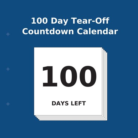 100 Day Tear-Off Countdown Calendar (Paperback)(Large Print)