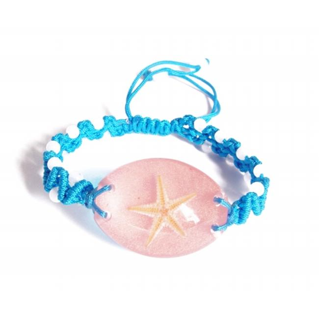 Ed Speldy East OLW104 Real Bug Bracelet-Starfish-Oval Shape-Pink