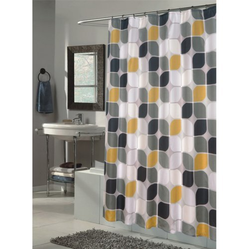 Carnation Home Fashions Metro Fabric Shower Curtain