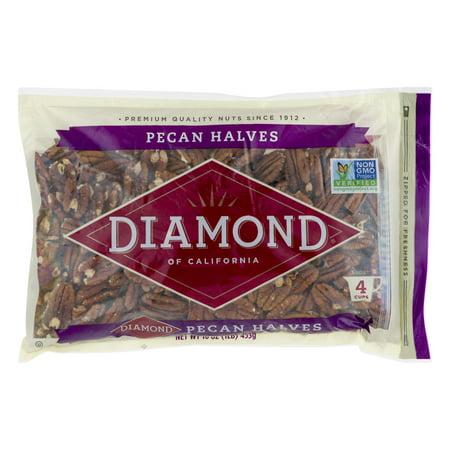 Salted California Pistachios - Diamond of California Pecan Halves, 16.0 OZ