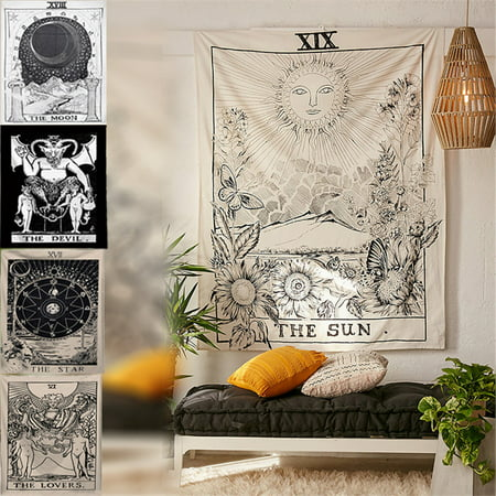 Wall Hanging Tarot Tapestry Magical Moon Sun Star Bedspread Large Tapestry Cover