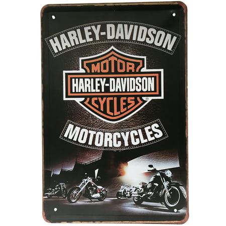 Harley Davidson Metal Sign Home Office Garage Shops Decor Bike