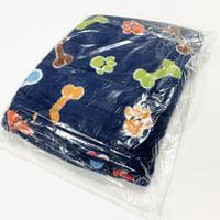 "Shason Textile (2 Yards cut), Multi Color Friendly Paws Anti-Pill Fleece, 72""x 60"" Fabric, Navy/Red Brown Bone."