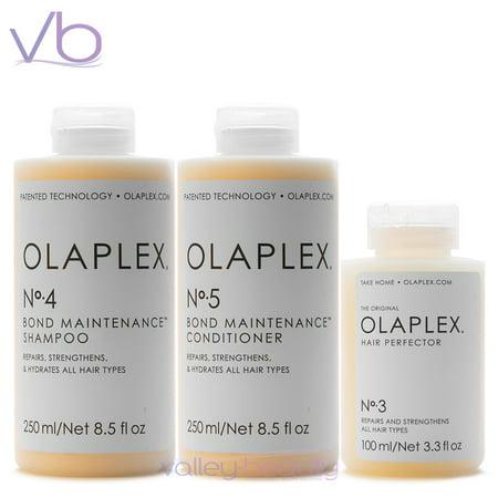 Olaplex No.3, No.4, No.5 Bundle | Hair Perferctor, Shampoo and