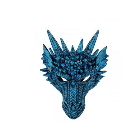 Glue Halloween Mask Face (MarinaVida 4D Dragon Halloween Mask Lightweight Upper Half Face Mask for)