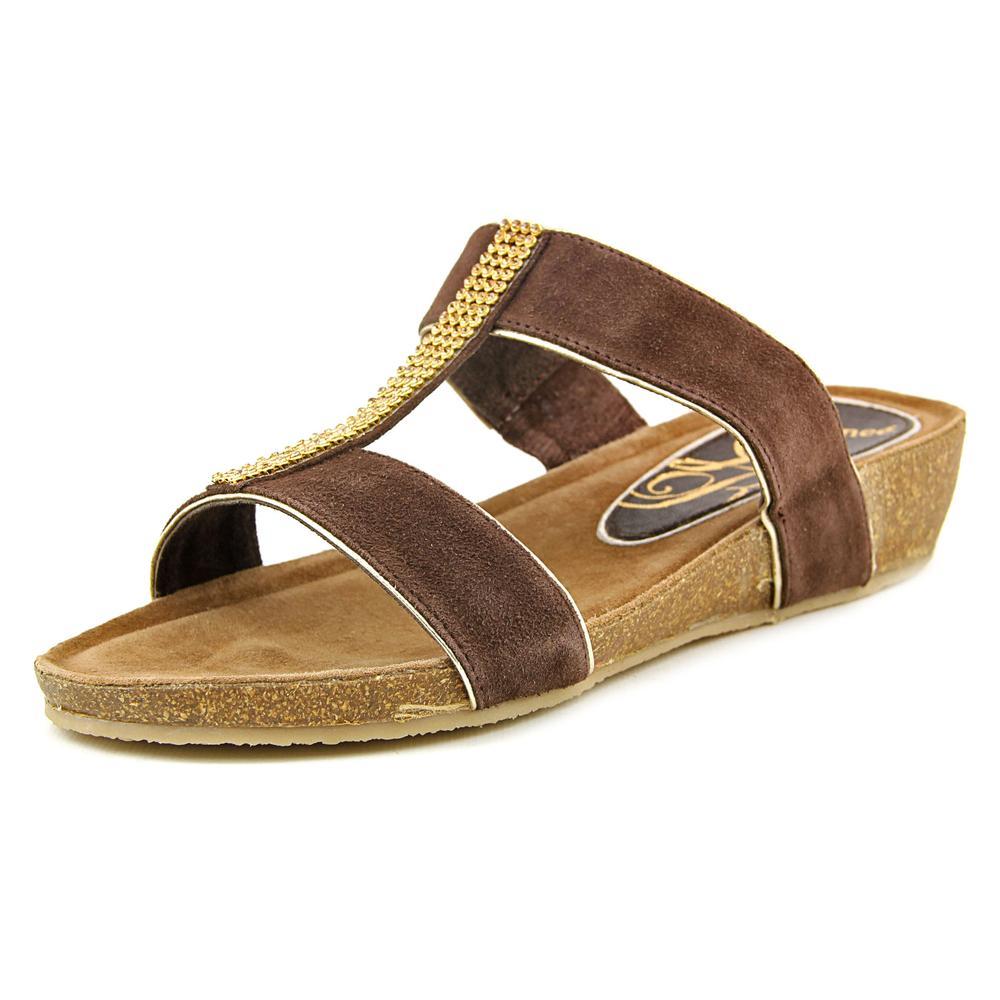 J. Renee Kella Women Open Toe Suede Slides Sandal by J. Renee