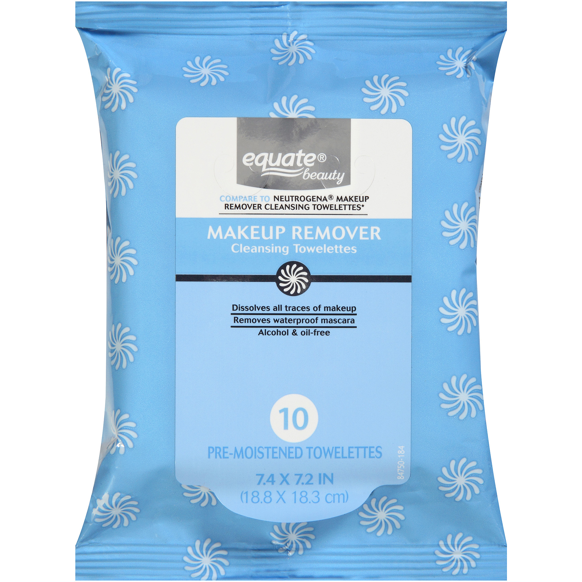 Equate Beauty Makeup Remover Cleansing Towelettes, 10 sheets