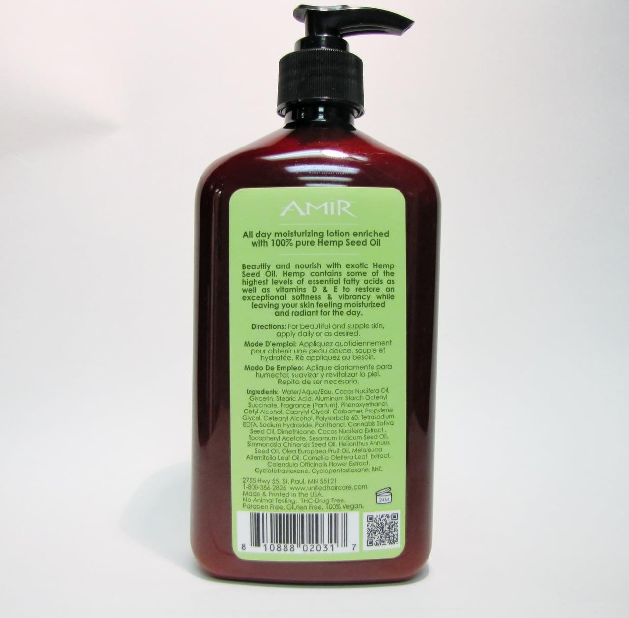 Amir Hemp Seed Oil Moisturizer - Size : 18 oz