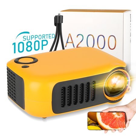 Mini Projector, 1080P Supported Portable Movie Projector 1000LM/400LM Full HD Moive Home...