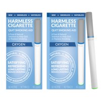 Harmless Cigarette,Oxygen,Nicorette Alternative & Quit Smoking Aid,2pk