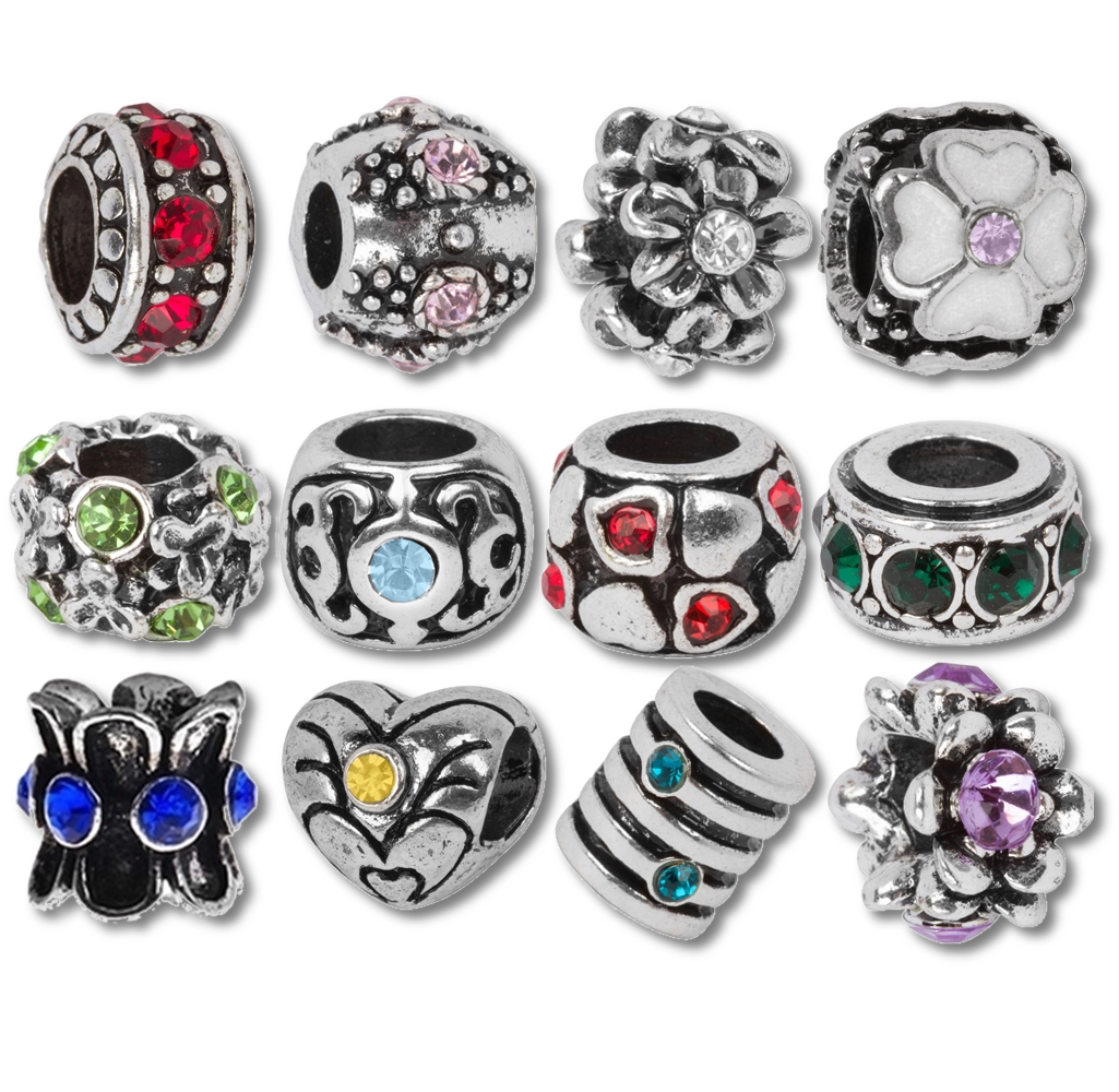 Birthstone Beads and Charms for Pandora Charm Bracelets
