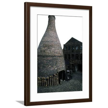 Kiln for Firing Ceramics, Gladstone Pottery (18th Century), Longton, England, United Kingdom Framed Print Wall (Haeger Potteries Carmel Ceramic)
