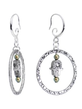 8e1f34b64 Product Image Body Candy Handcrafted Silver Plated Encircled Hamsa Earrings  Created with Swarovski Crystals