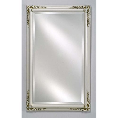 Estate Decorative Wall Mirror in Antique White Finish (Small)