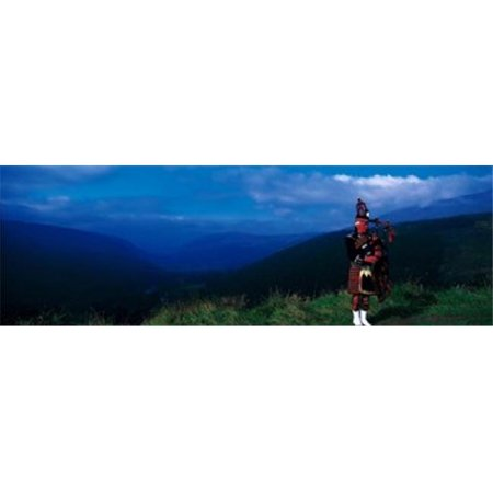 Panoramic Images PPI63307L Bagpiper Scottish Highlands Scotland Poster Print by Panoramic Images - 36 x 12 - image 1 of 1