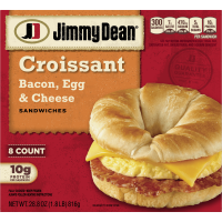 Jimmy Dean Bacon, Egg & Cheese Croissant Sandwiches, 8 Count (Frozen)