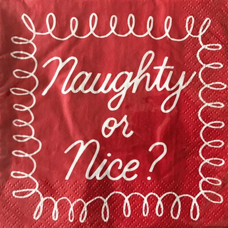Christmas 'Naughty or Nice' Small Napkins (20ct)