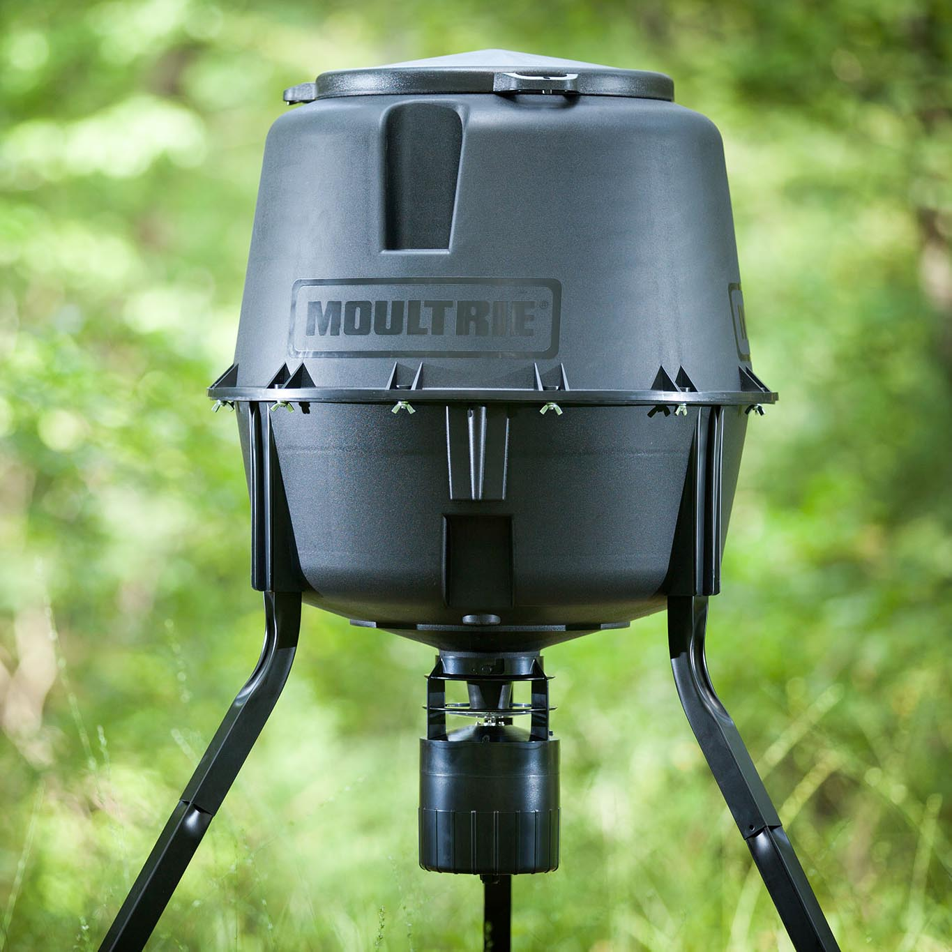 unlimited gallon deer feeder moultrie natchez tripod
