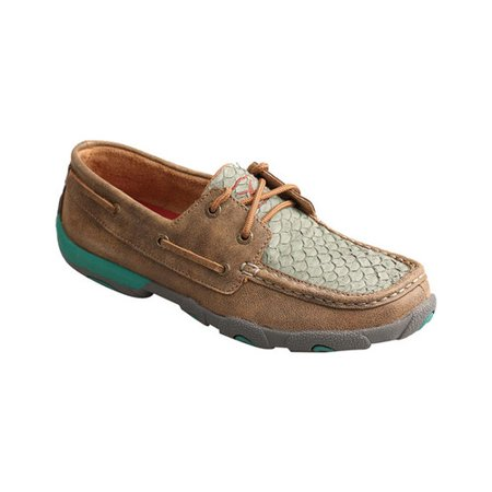 Women's Twisted X Fish Leather Driving - Leather Driving Mocs