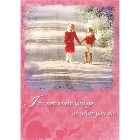Recycled Paper Greetings Not Where You Go Valentine's Day - Paper Valentine