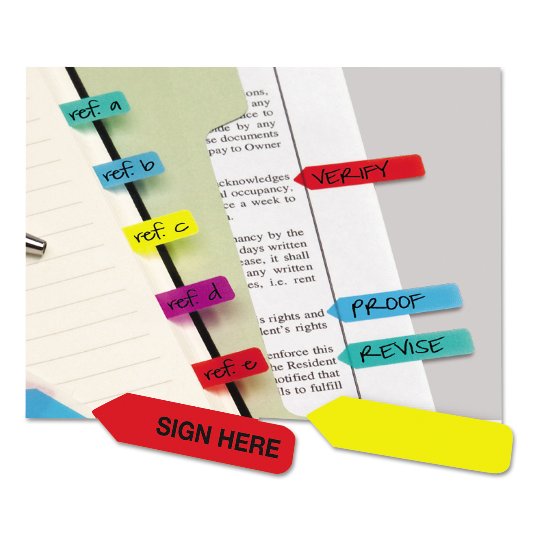 Redi-Tag Mini Arrow Page Flags, Blue/Mint/Purple/Red/Yellow, 154 Flags/Pack -RTG72001