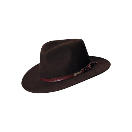 5c672363 Dorfman Pacific - Indiana Jones Outback Wool Hat, Brown - Walmart.com