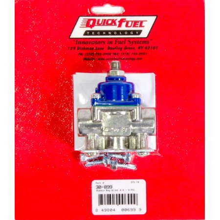 Quick Fuel Technology 4.5-9 psi Bypass Inline Fuel Pressure Regulator P/N 30-899