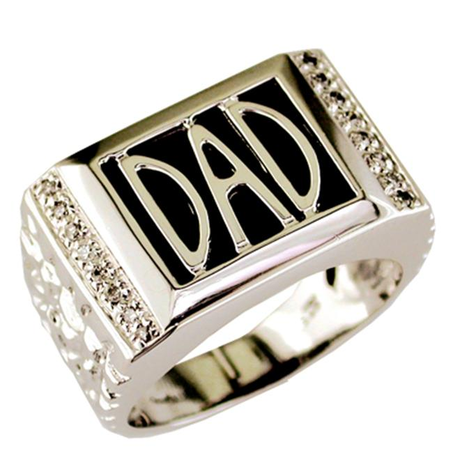 Sterling Silver DAD Ring MANY SIZES 6MM2sul58O