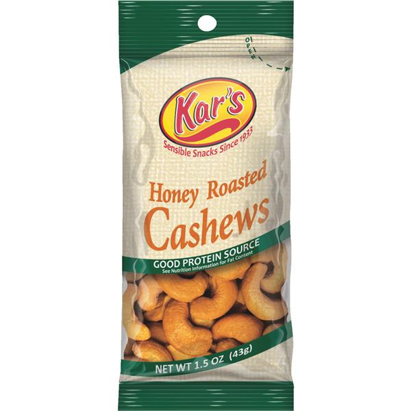 12/Pack Hickory Harvest Foods 80203 Honey Cashew Nuts