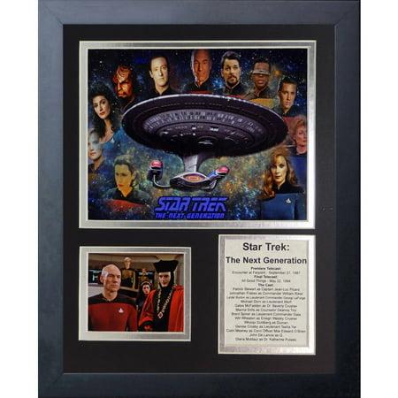 Legends Never Die Star Trek: Next Generation Framed Photo Collage, 11 x 14
