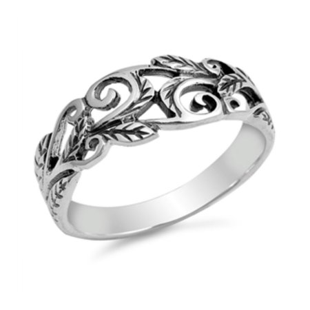 925 Sterling Silver Vines Ring (Vine Ring 925)