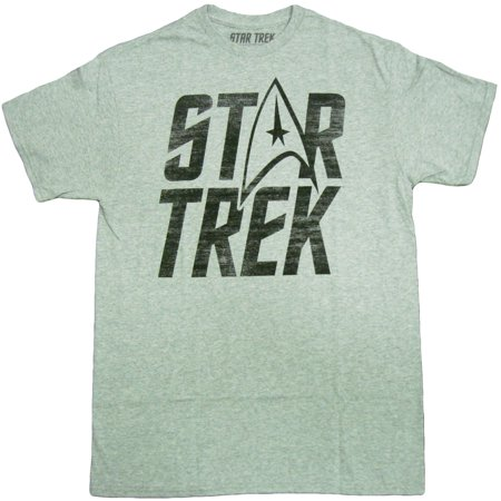 Star Trek Logo Adult T-Shirt Star Trek Pewter