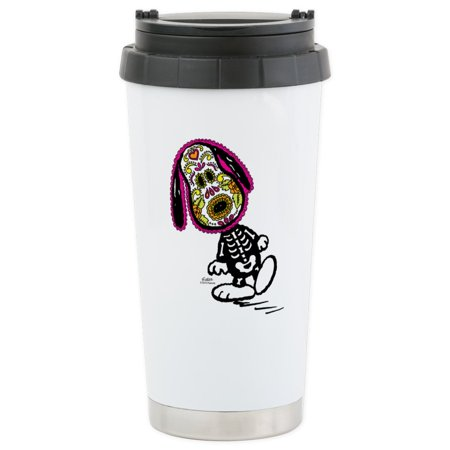 CafePress - Day Of The Dog Snoopy Stainless Steel Travel Mug - Stainless Steel Travel Mug, Insulated 16 oz. Coffee Tumbler](Snoopy Halloween Tumblr)