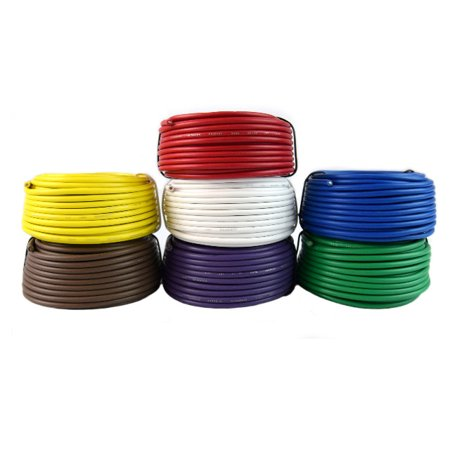 16 Gauge Trailer Light Cable Wiring Harness 25 Feet Each 7 Rolls 175 Feet (Best Electrical Wire For House Wiring)