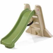 Step2 Naturally Playful Big Folding Slide, Green and Tan