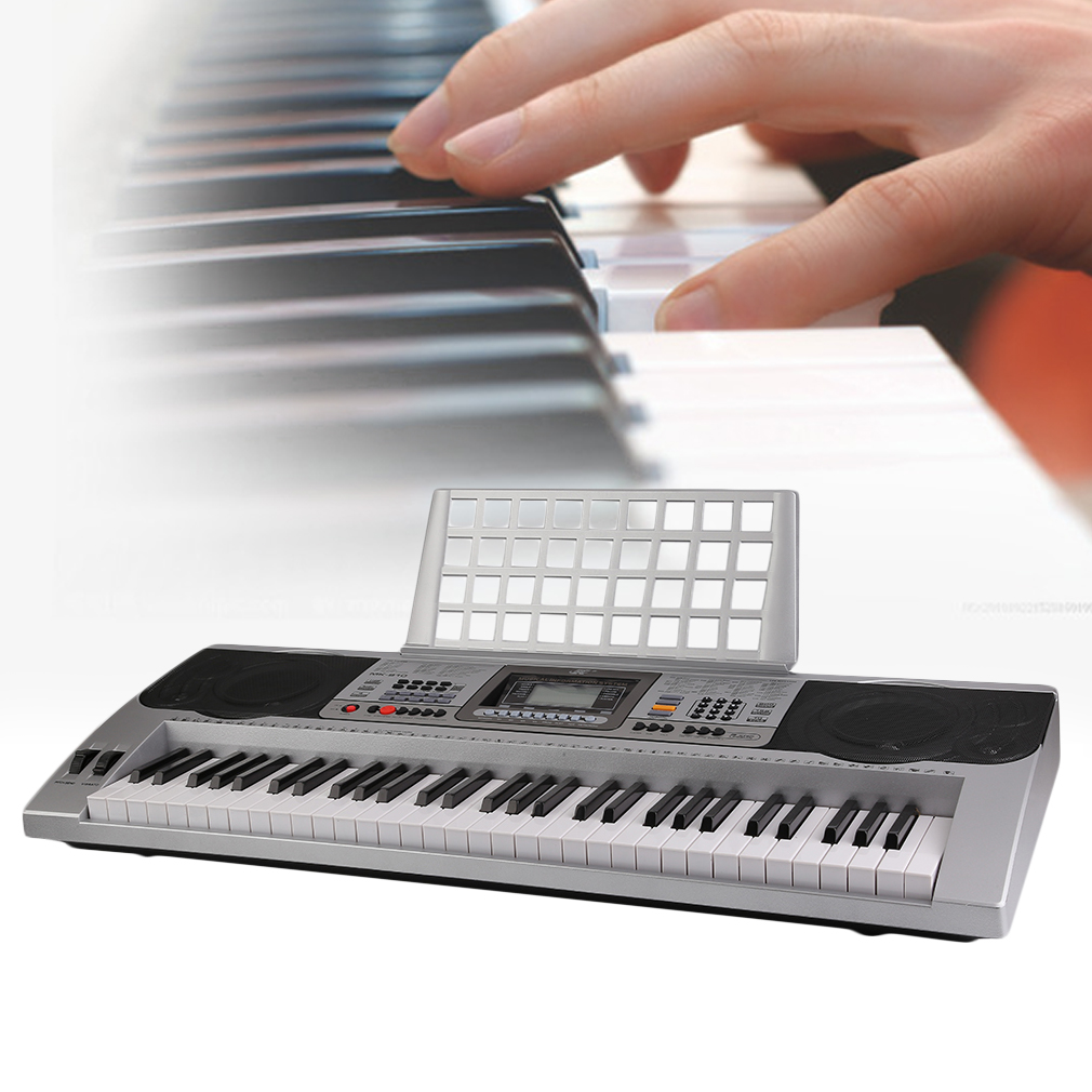 MK-810 61-Key New Electric Piano Hot Multifunctional Electric Piano Keyboard with Stand Kids Chrismas Gift
