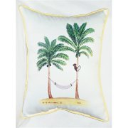 "Betsy Drake HJ085 Palm Trees & Monkey Art Only Pillow 15""x22"""
